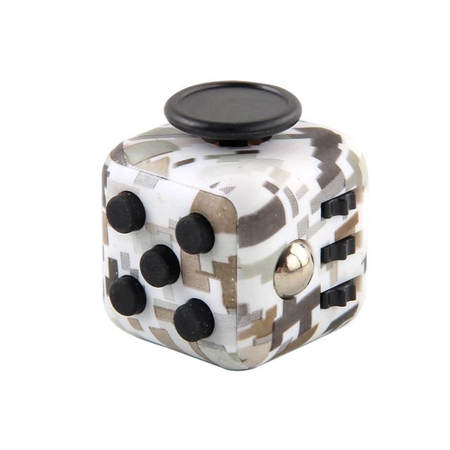 White Gray Fidget Cube Anti Stress Toys