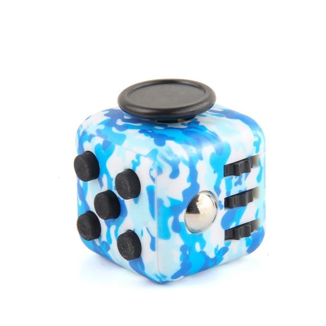 White Blue Fidget Cube Anti Stress Toys