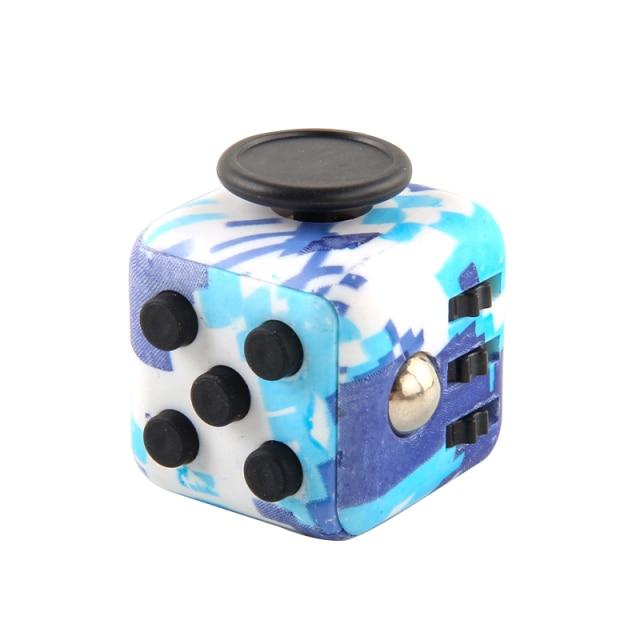 Blue Sea Pattern Fidget Cube Anti Stress Toys