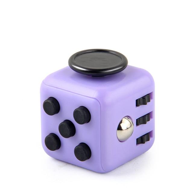Purple Fidget Cube Anti Stress Toys