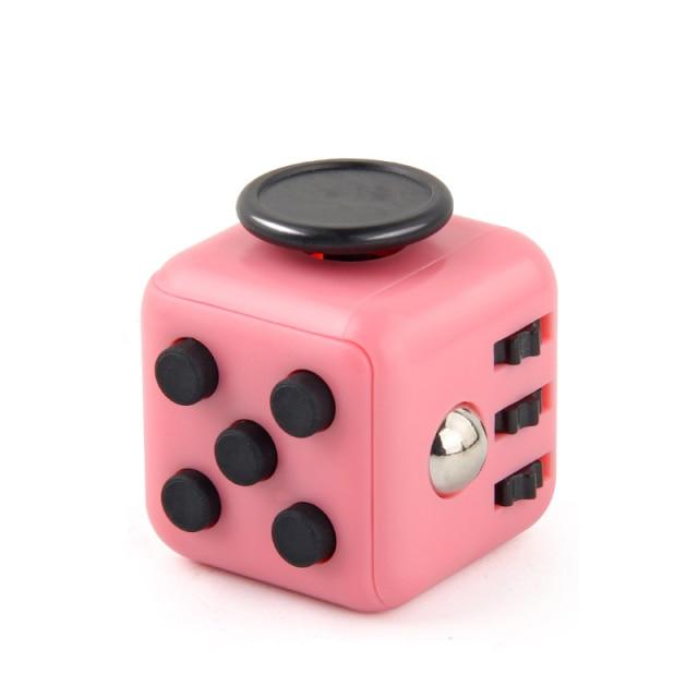 Brown Pattern Fidget Cube Anti Stress Toys