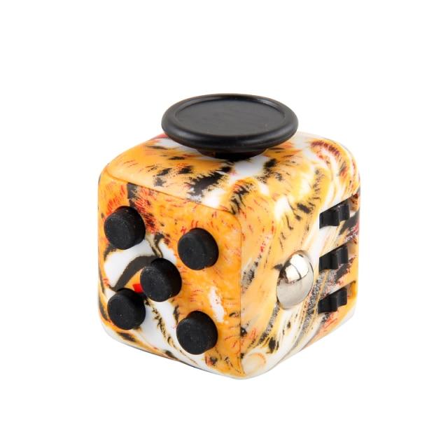 Orange Pattern Fidget Cube Anti Stress Toys