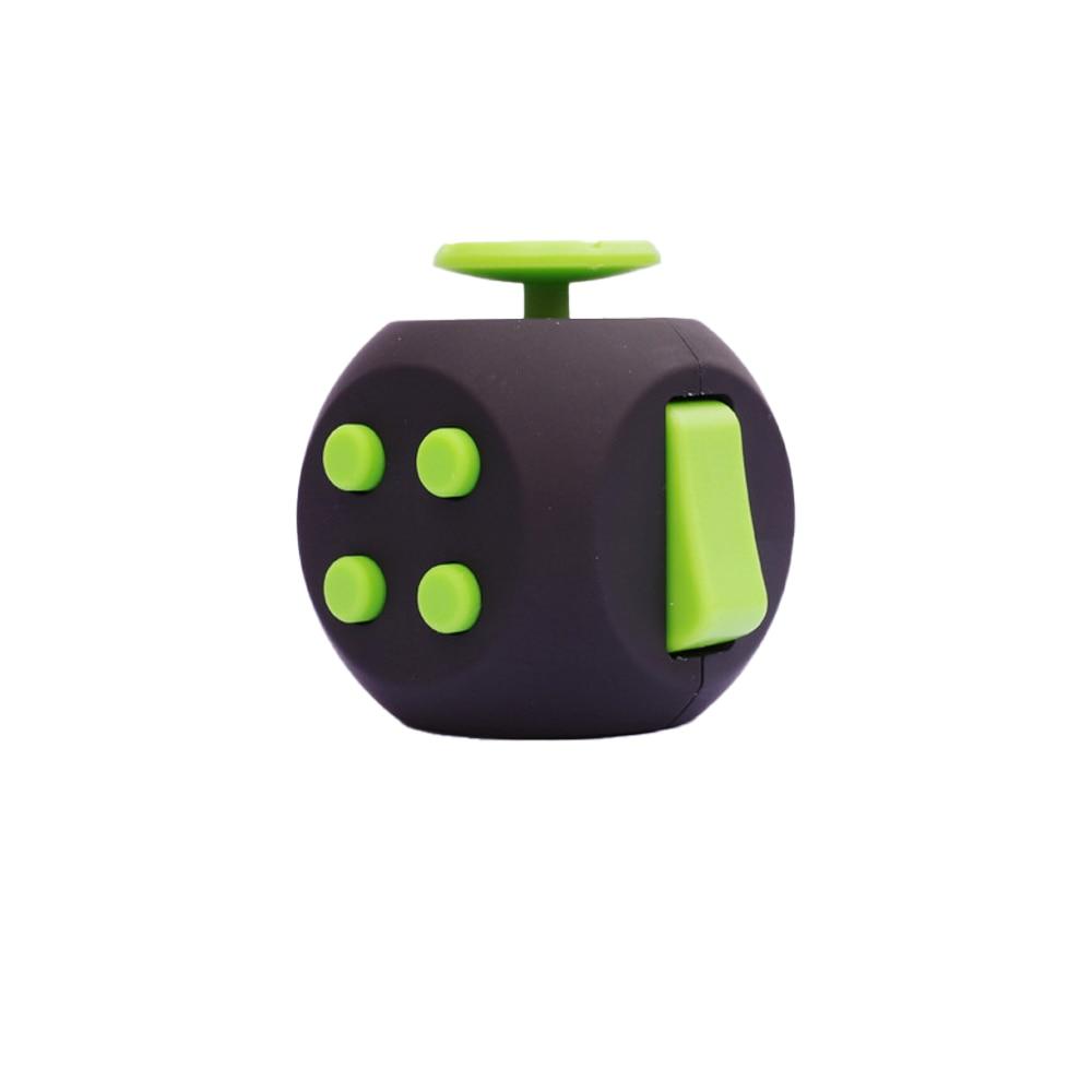 Black Green 6 Sides Cube Fidget Anti Stress Toy