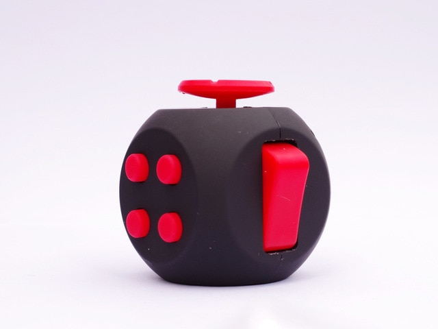 Black Red 6 Sides Cube Fidget Anti Stress Toy
