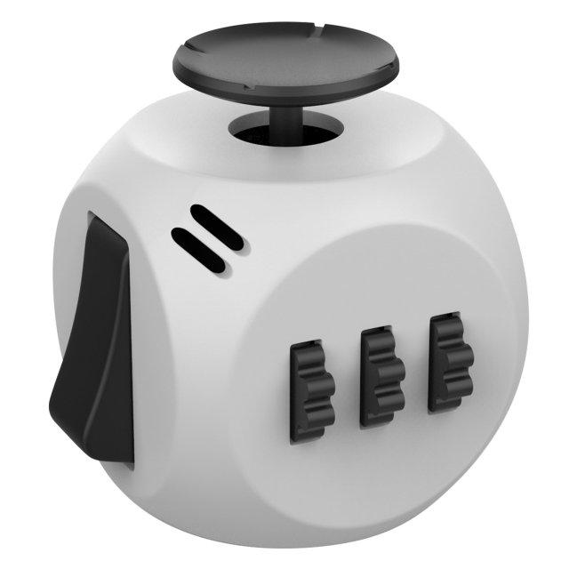Gray 6 Sides Cube Fidget Anti Stress Toy