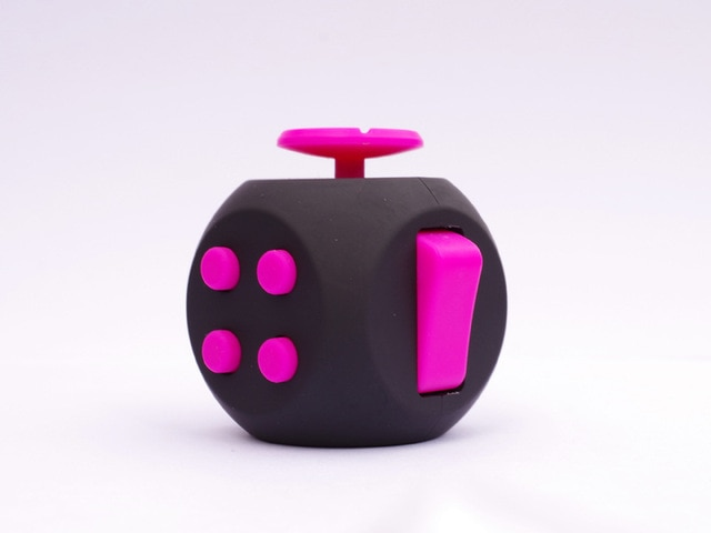 Black Pink 6 Sides Cube Fidget Anti Stress Toy
