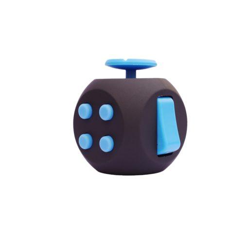 Black Blue 6 Sides Cube Fidget Anti Stress Toy