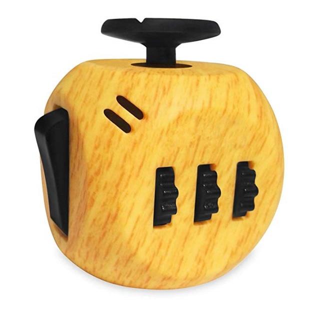 Wooden 6 sides Cube Fidget Anti Stress Toy