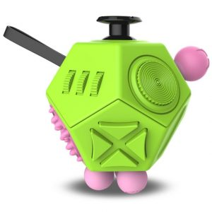 Green 12 Sides Fidget Cube Stress Relief Toy