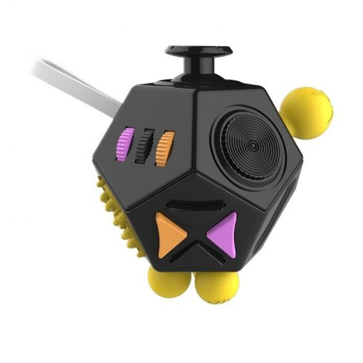 New Black 12 Sides Fidget Cube Stress Relief Toy